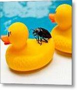 Waterbug Takes Yellow Taxi Metal Print