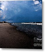 watercolor Beach Metal Print