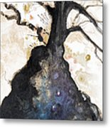 Watercolor Branches Metal Print by Tara Thelen
