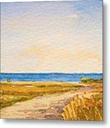 Watercolor Coast Metal Print