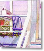Purple Porch Metal Print