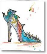 Watercolor Fashion Illustration Art Metal Print