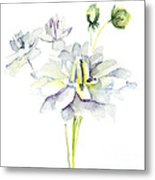 Watercolor Illustration With Beautiful Flowers  Metal Print