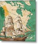 Watercolor Map 2 Metal Print