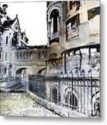 Watercolor Paris Metal Print