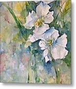 Watercolor Wild Flowers Metal Print