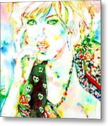 Watercolor Woman.3 Metal Print