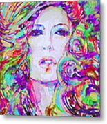 Watercolor Woman.32 Metal Print