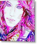 Watercolor Woman.33 Metal Print