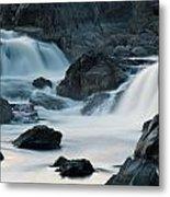 Waterfall After Dusk Metal Print