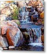 Waterfall Among Rocks Metal Print