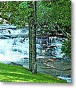 Waterfall And Hammock In Summer 2 Metal Print