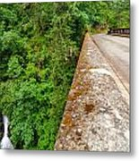 Waterfall And Old Road Metal Print