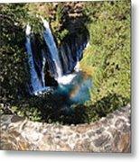 Waterfall And Rainbow 3 Metal Print