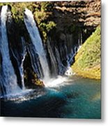Waterfall And Rainbow 4 Metal Print