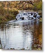 Waterfall At Bonneyville Metal Print