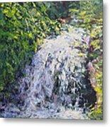 Waterfall At Chicago Botanic Gardens Metal Print
