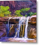 Waterfall At Coyote Creek Metal Print