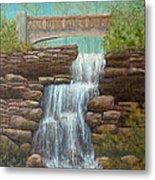 Waterfall At East Hampton Metal Print
