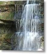 Waterfall At Old Man's Cave Metal Print