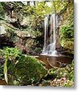 Waterfall At Roughting Linn Metal Print