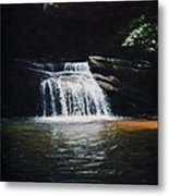 Waterfall At Table Rock National Forest Metal Print