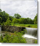 Waterfall At Valley Creek Near Valley Forge Metal Print