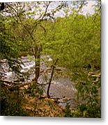 Waterfall At West Point Metal Print