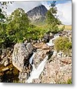 Waterfall Below Stob Dearg Metal Print