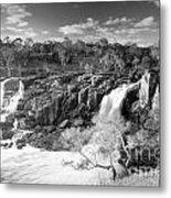 Waterfall Black And White Metal Print