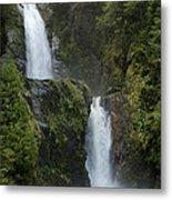 Waterfall, Chile Metal Print