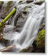 Waterfall Close Up In Marlay Park Metal Print