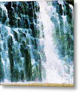Waterfall Closeup Painting Metal Print