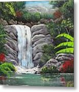 Waterfall Fantasy Metal Print
