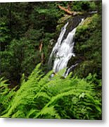 Waterfall Fern Square Metal Print