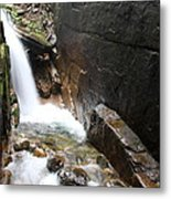 Waterfall Flume Gorge - Nh Metal Print