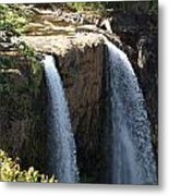 Waterfall From The Top Metal Print