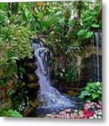 Waterfall Garden Metal Print