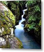 Waterfall, Glacier National Park Metal Print