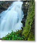 Waterfall - High Water On Falls Brook Metal Print