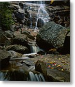 Waterfall In A Forest, Arethusa Falls Metal Print