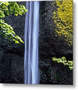 Waterfall In A Forest, Latourell Falls Metal Print