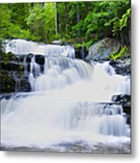 Waterfall In The Pocono Mountains Metal Print