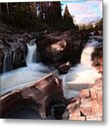 Waterfall In The Scotish Highlands Metal Print