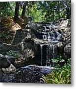 Waterfall In The Woods Metal Print
