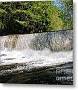 Waterfall In Woodstock Vermont Metal Print