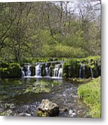 Waterfall Lathkill Dale Derbyshire Metal Print