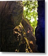 Waterfall Mountain Metal Print