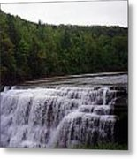 Waterfall On The River Metal Print