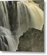 Waterfall On The Rocks Metal Print